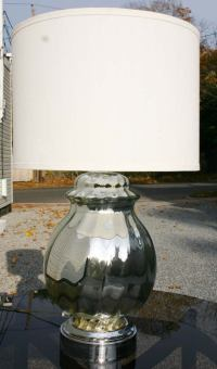 Large Ginger Jar Mercury Glass Lamp at 1stdibs