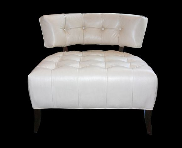 white leather slipper chair reclining shower pair of chairs attributed to billy haines at american for sale