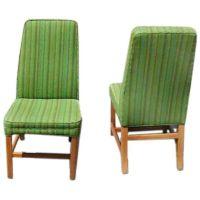Edward Wormley for Dunbar Highback armless side chairs at ...
