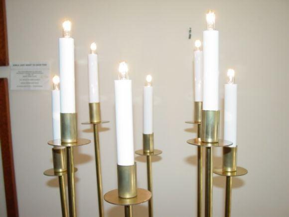 Parzinger style Candelabra Lamp at 1stdibs