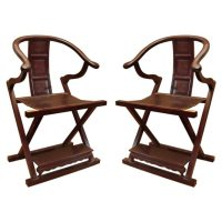 Chinese rosewood folding chair at 1stdibs