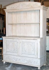 Painted Antique Hutch, Buffet at 1stdibs