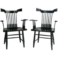 Pair of Japanese inspired 1950's Armchairs at 1stdibs