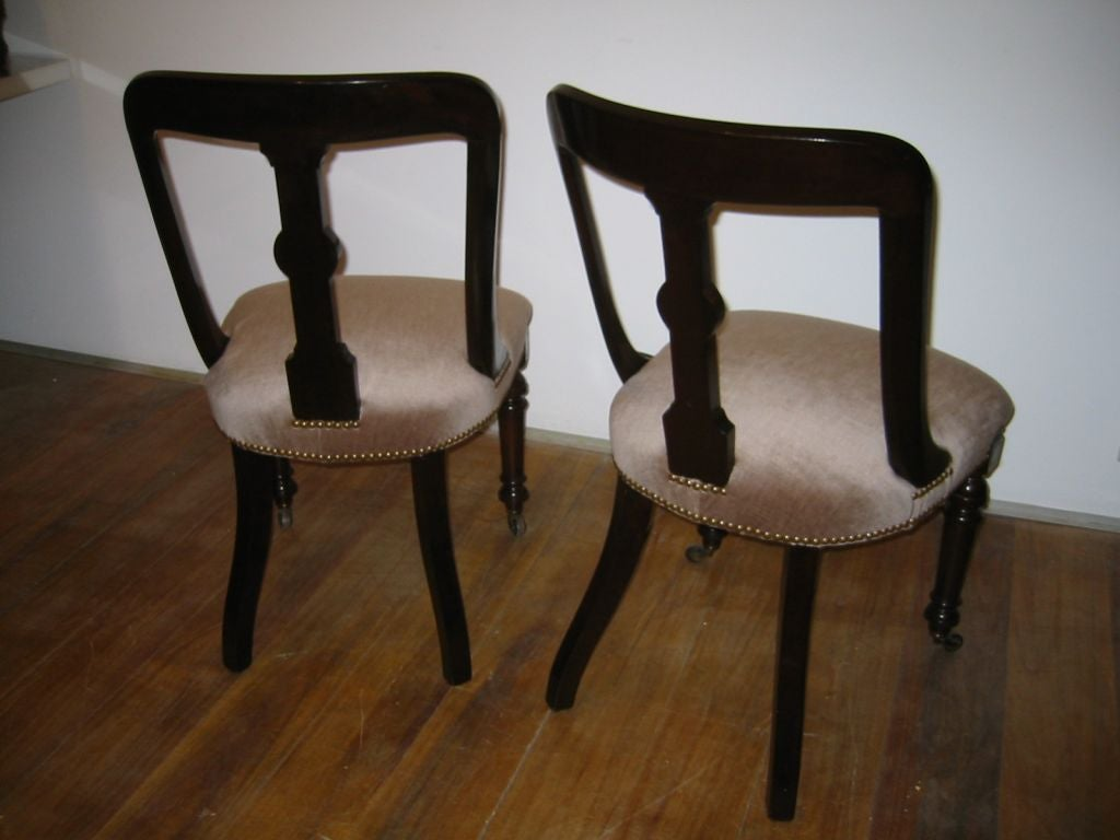 nice chair stool vanguard furniture dining chairs pair of antique hall at 1stdibs