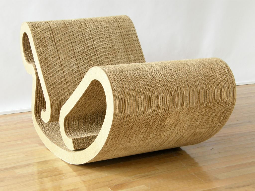 frank gehry chair wooden gliding rocking chaise at 1stdibs