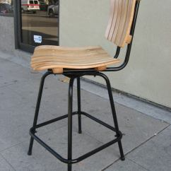 Countertop Height Folding Chairs Bamboo Dining Sydney Pair Of Stools By Arthur Umanoff At 1stdibs