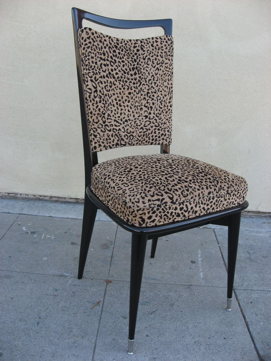 Cheetah Chair Set Of 6 French 50 39s Leopard Print Chairs At 1stdibs