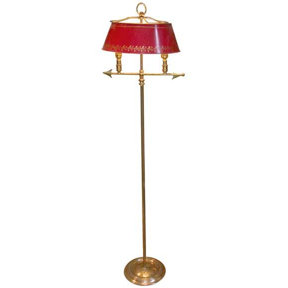 Double Head Arrow Bouillotte Style Floor Lamp at 1stdibs