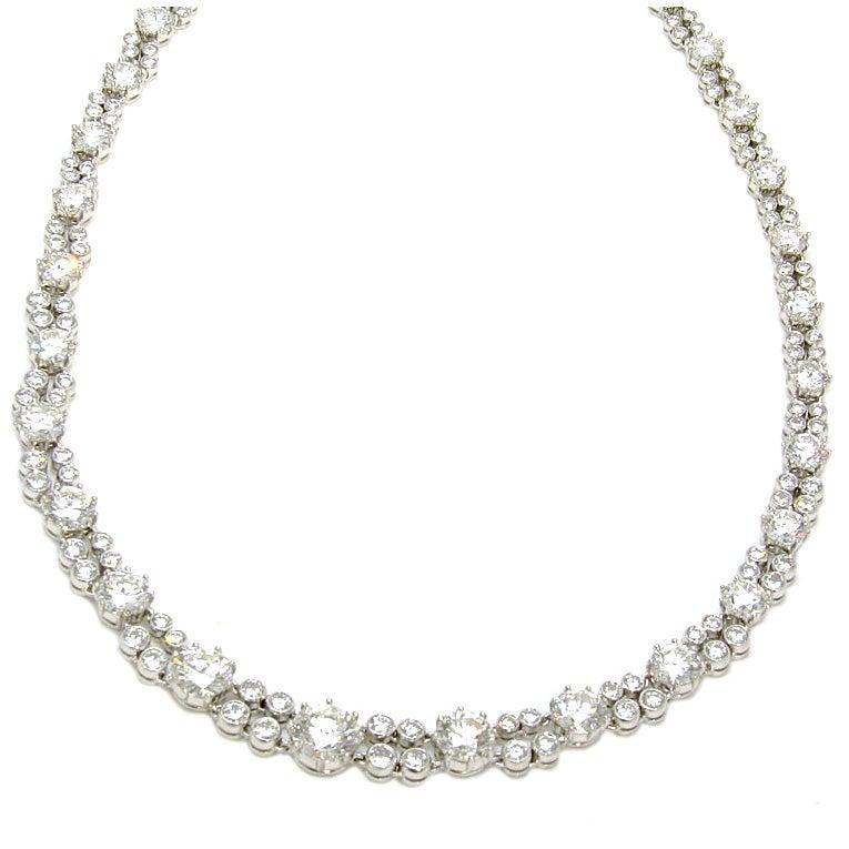 Elegant Diamond Necklace at 1stdibs