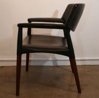Swedish Leather Chairs. at 1stdibs
