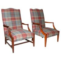 Two American Federal Style Lolling Chairs at 1stdibs