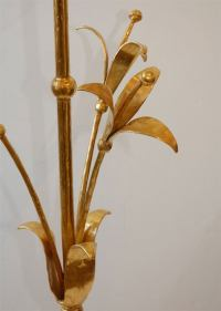 Italian Gilt Tripod Floor Lamp at 1stdibs