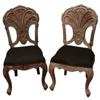 Baroque Carved Fan Back Chair at 1stdibs