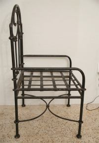 Pair of Hand-Forged Iron Chairs at 1stdibs