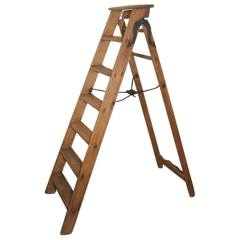 Binplex Antique ladder at 1stdibs