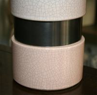 Pink Crackle Glaze Ceramic Lamps at 1stdibs