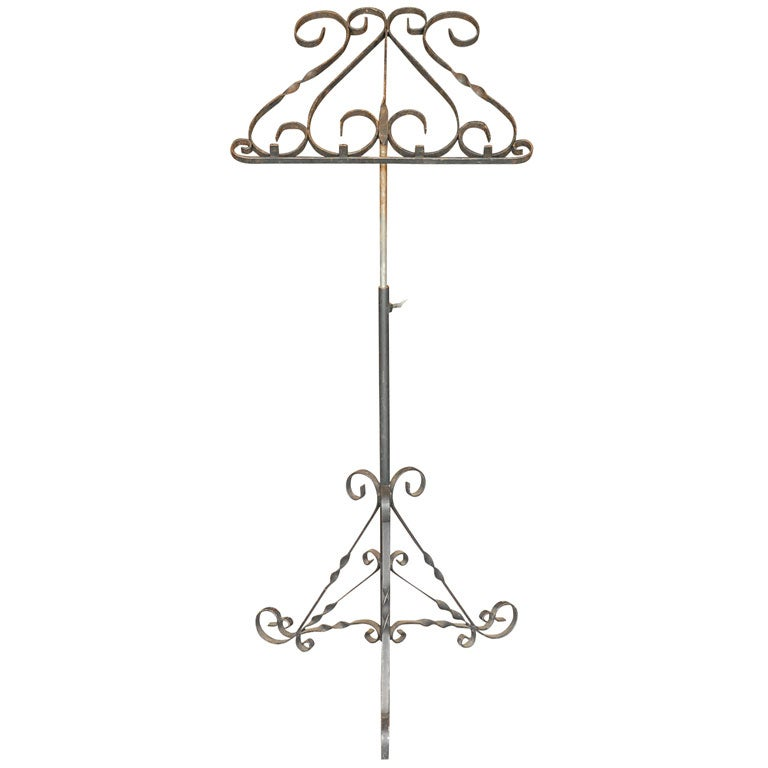 Wrought iron music stand at 1stdibs