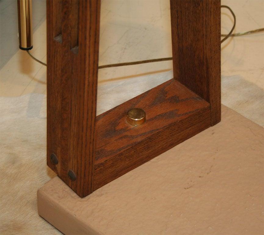 Arch Wood Floor Lamp at 1stdibs