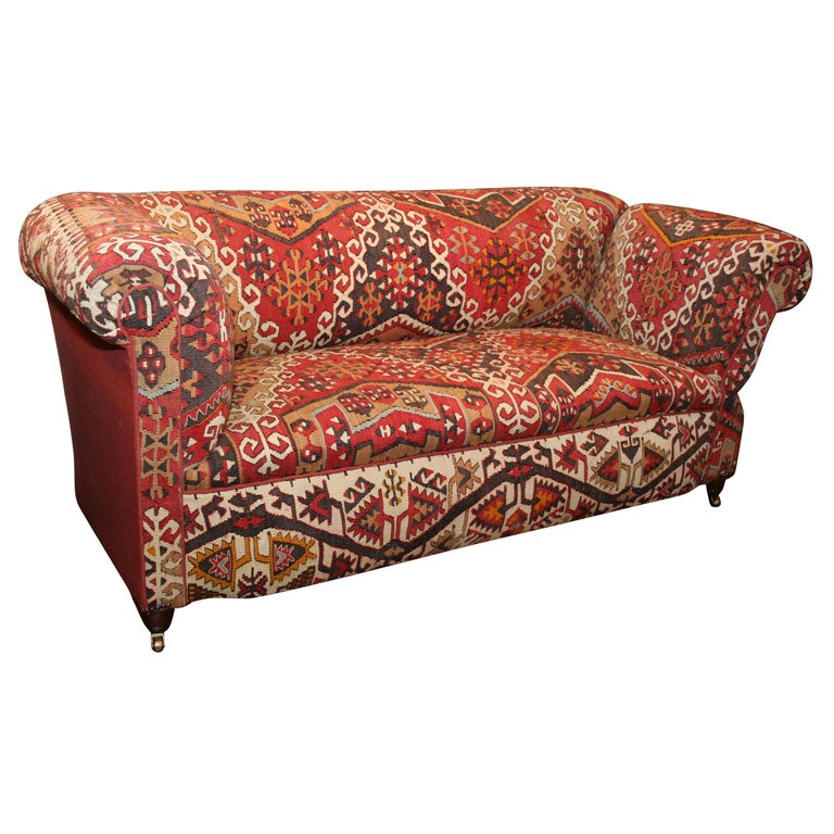 stool chair red dining covers target australia antique kilim covered sofa/convertible day bed at 1stdibs