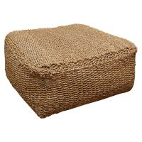 Ottoman upholstered is seagrass at 1stdibs