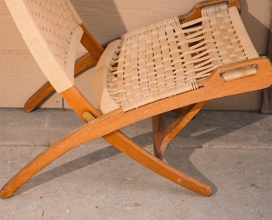 chromcraft chairs vintage hans wegner style folding chair at 1stdibs