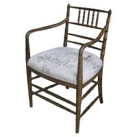 Faux Bamboo Chair at 1stdibs