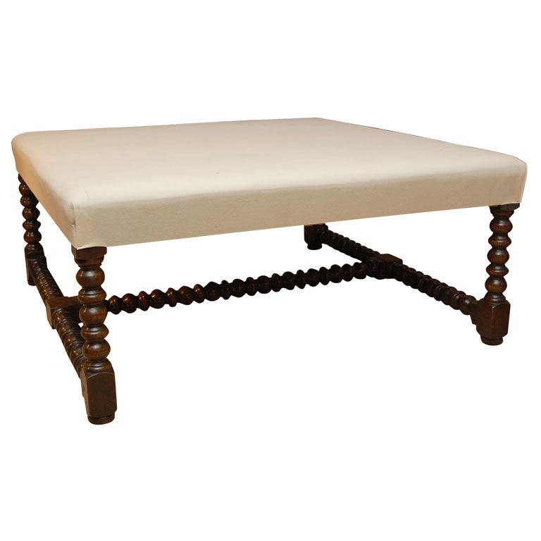 large square upholstered coffee table