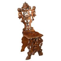 Carved Baroque Style Chair at 1stdibs