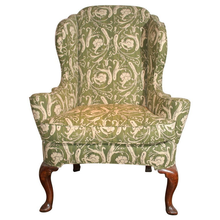 queen anne wing chair gray rocking for nursery wingback chairs 21 sale at 1stdibs carved walnut english circa 1710