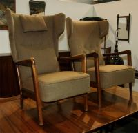 His and Her Arm Chairs by Soren Hansen at 1stdibs