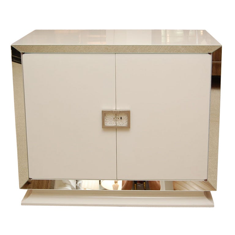 Grosfeld House White Lacquer CabinetDry Bar at 1stdibs