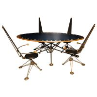 Futuristic Table with Four Chairs at 1stdibs