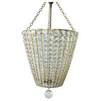 Crystal Basket Style Chandlier at 1stdibs