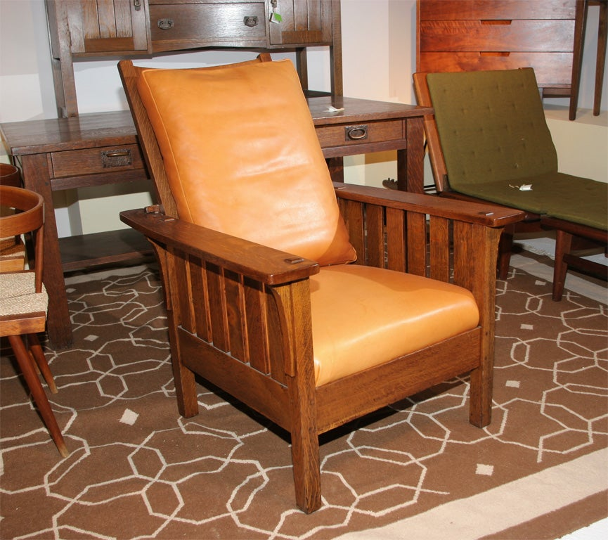 oak rocking chair plans swing for 1 year old l&jg stickley mission reclining morris sale at 1stdibs