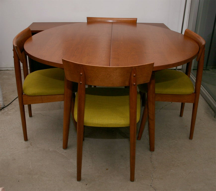 1950s Dining Table With 4 Chairs By Conant BallRussell
