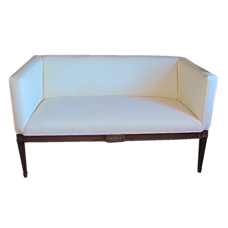 Small Upholstered Settee at 1stdibs
