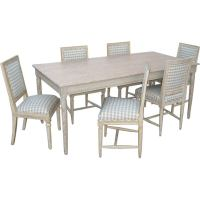 Set of painted dining table with chairs at 1stdibs