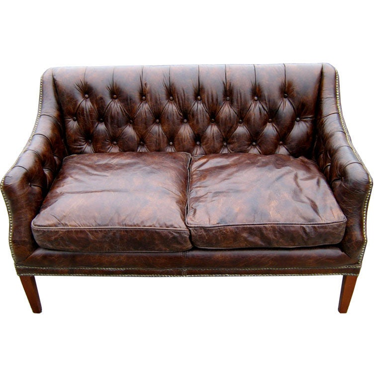 Tufted Leather Sofa At 1stdibs
