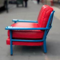 Turquoise Lounge Chair Folding Dining Table And Chairs Lacquered By Paul Laszlo At 1stdibs