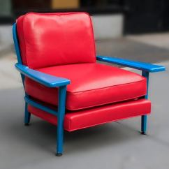 Turquoise Lounge Chair Chesterfield Leather Lacquered By Paul Laszlo At 1stdibs