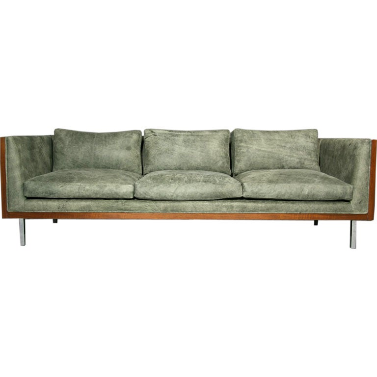 custom made leather sectional sofas lounge sofa uk distressed green walnut case at 1stdibs