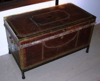 Leather Storage Chest-Coffee Table at 1stdibs