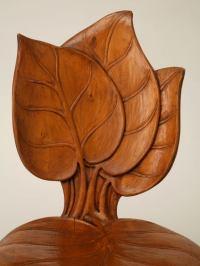 c.1890-1910 French Art Nouveau Sculptural Leaf Chair at ...