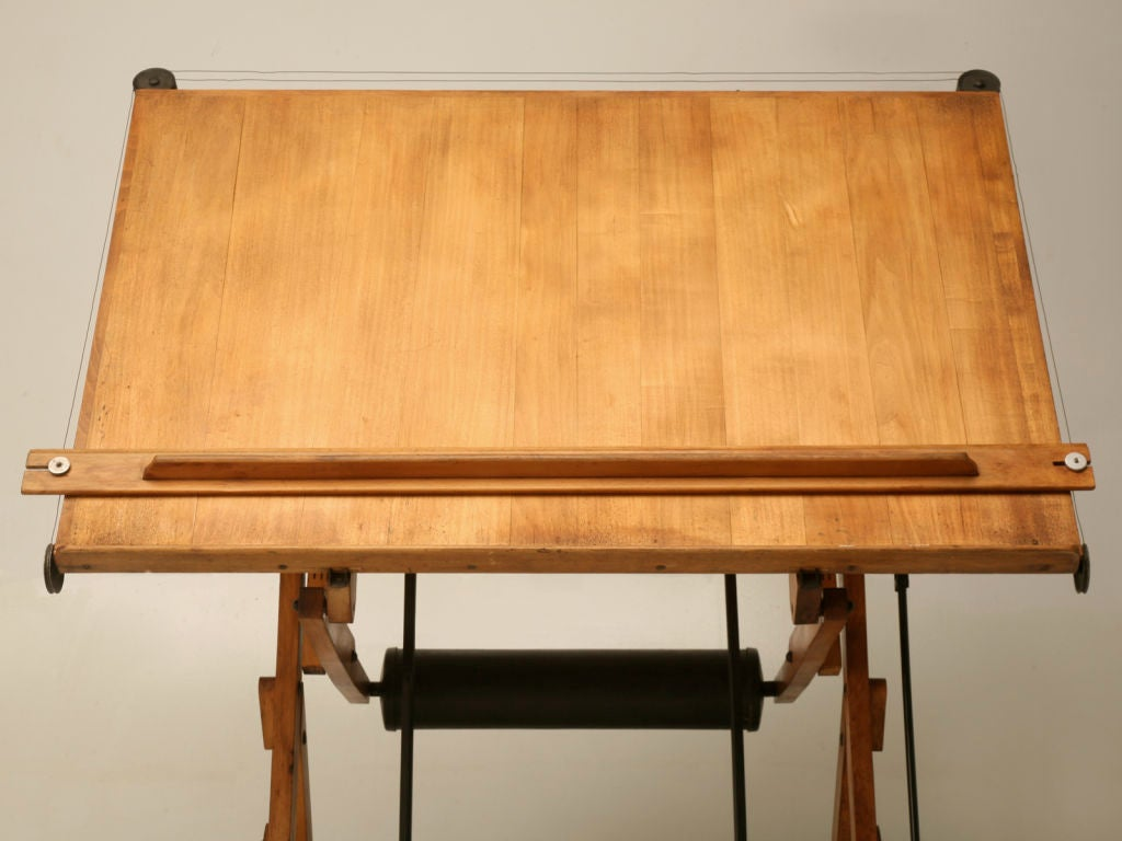 C1930 Vintage French Architects Drafting Table At 1stdibs