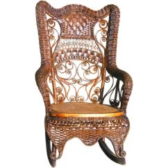 Wood Rocking Chair Styles Makeup Artist Fancy Victorian Wicker At 1stdibs
