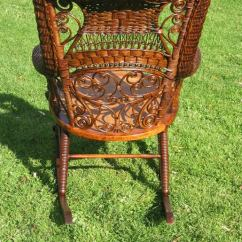 Woven Rocking Chair Medical Shower With Arms Fancy Victorian Wicker At 1stdibs