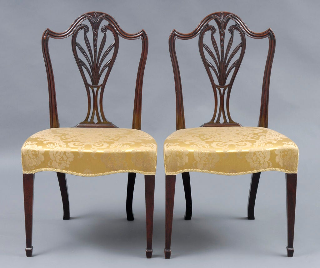 Hepplewhite Chair English Pair Period Hepplewhite Side Chairs For Sale At