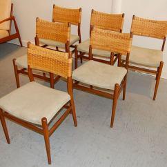 Cane Back Dining Room Chairs Ergonomic Chair Ebay Six Danish At 1stdibs