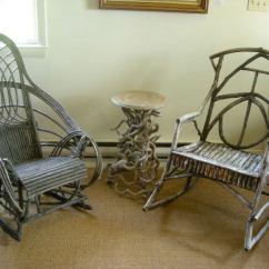 Mid Century Rocker Chair Swing For Child Vintage Adirondack Twig Rocking At 1stdibs