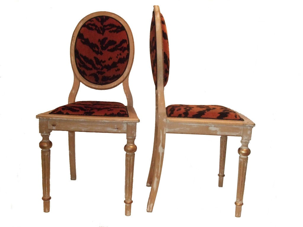 Pair of Louis XVI Style Side Chairs at 1stdibs